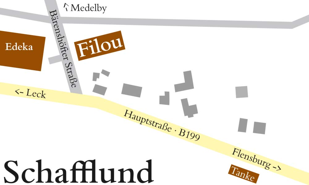 Die Anfahrt zum Filou in Schafflund